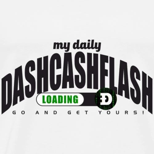 Dash Cash Flash Loading Crypto - Männer Premium T-Shirt