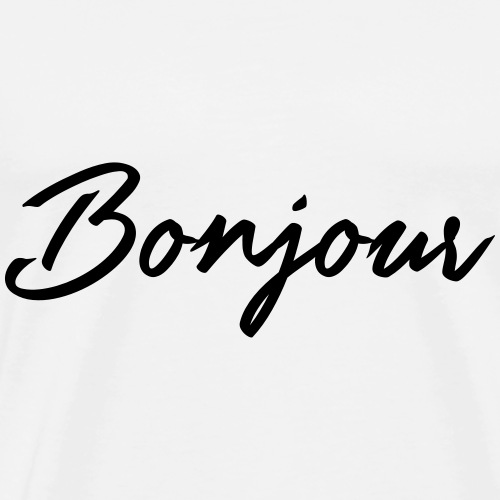 Guten Tag und Hallo- Typografie Design - Männer Premium T-Shirt