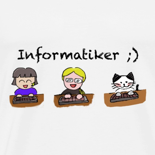Informatiker ;) - Männer Premium T-Shirt