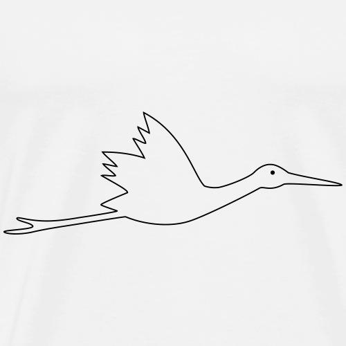 Klapperstorch fliegender Storch - Männer Premium T-Shirt