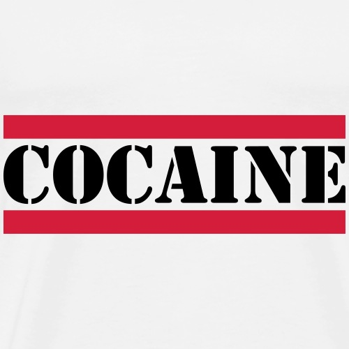 cocaine Schriftzug mit roten Linien - Männer Premium T-Shirt