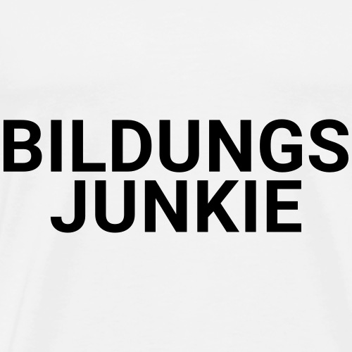 BILDUNGSJUNKIE - Männer Premium T-Shirt