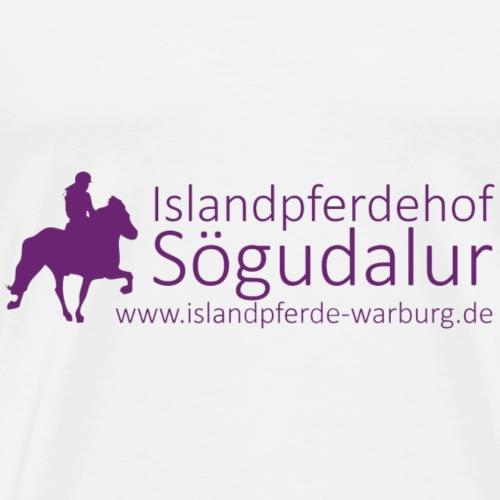 Islandpferdehof Sögudalur - Männer Premium T-Shirt