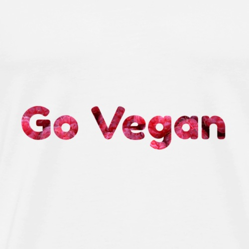 Go vegan raspberries I gift - Men's Premium T-Shirt