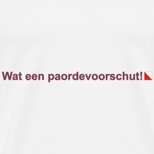 Wat een paordevoorschut hori def b - Mannen Premium T-shirt