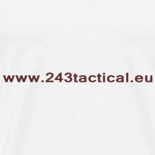 .243 Tactical Website - Mannen Premium T-shirt