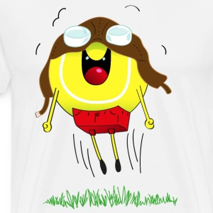 The flying tennis ball! - Men's Premium T-Shirt