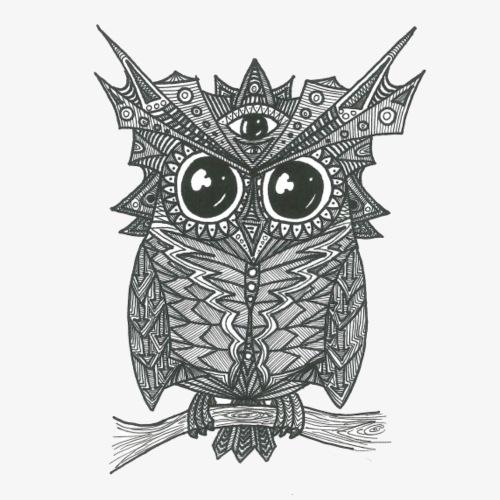 Wise Owl - Männer Premium T-Shirt