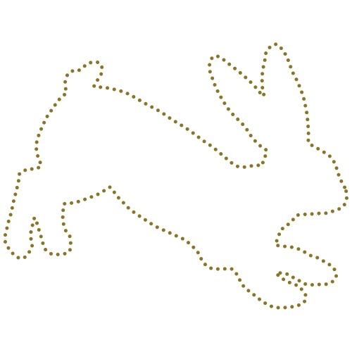 Running Bunny Dots - Männer Premium T-Shirt