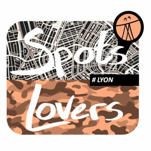 spots lovers Tshirt Carre Orange - T-shirt Premium Homme