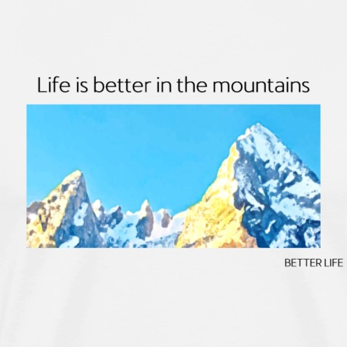 berge alpen watzmann geschenk - Männer Premium T-Shirt