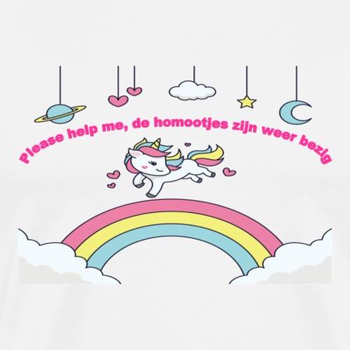 Please help me, de homootjes zijn weer bezig - T-shirt Premium Homme