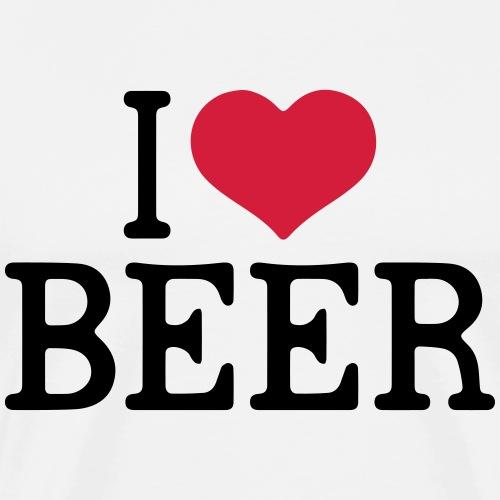 Fuuny Beer - I love Beer - Männer Premium T-Shirt