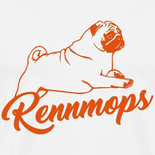 Rennmops - Mops - Sportmops - Männer Premium T-Shirt