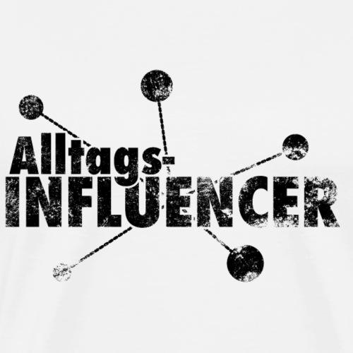 AlltagsINFLUENCER schwarz - Männer Premium T-Shirt