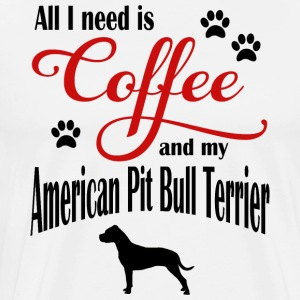 My Coffee and My American Pit Bull Terrier - Men's Premium T-Shirt