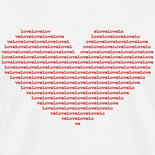 Isle of red Ascii Heart - Men's Premium T-Shirt