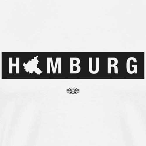 Hamburg Map (schwarz) - Männer Premium T-Shirt