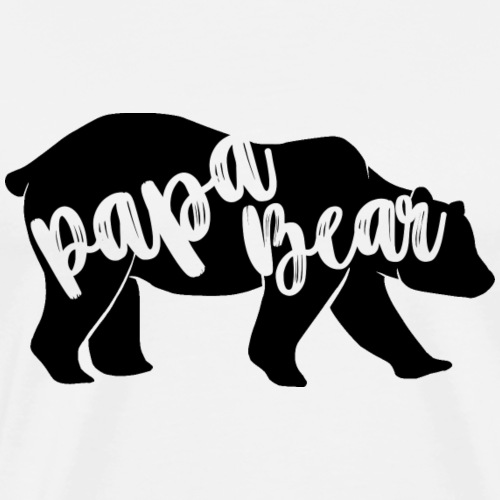 Papa Bear - for parents-baby-partner-look - Men's Premium T-Shirt