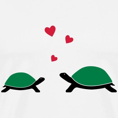 verliebte Schildkröten - Männer Premium T-Shirt