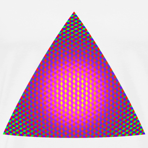Triangle made of Rhombus Elements - Men's Premium T-Shirt