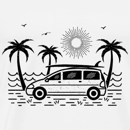 Surfbus (heller Hintergrund) - Männer Premium T-Shirt