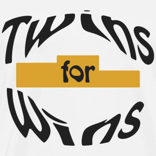Twins for Wins - Männer Premium T-Shirt