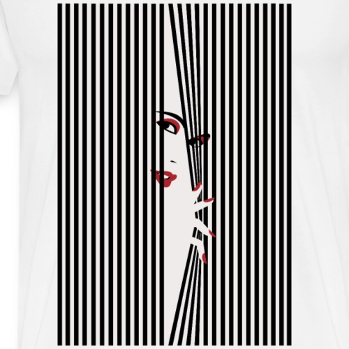Peeking Woman - Premium-T-shirt herr