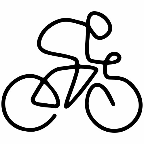 One line fietser - T-shirt Premium Homme