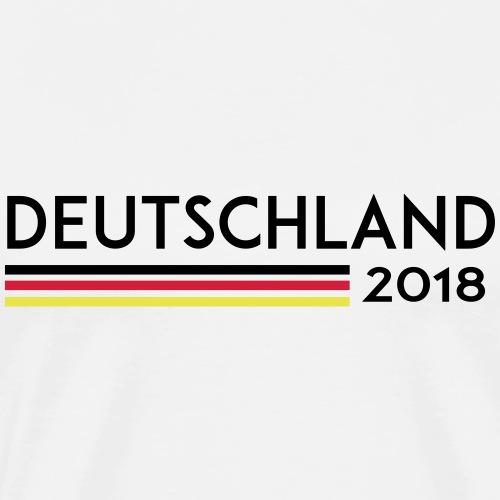 Deutschland 2018 Weltmeister Flagge T-Shirt - Männer Premium T-Shirt