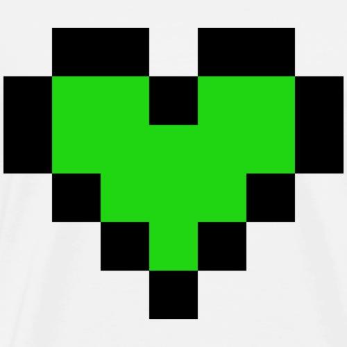 Grünes Herz - Männer Premium T-Shirt