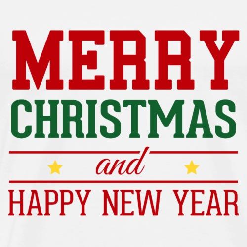 Merry Christmas and Happy New Year - Men's Premium T-Shirt
