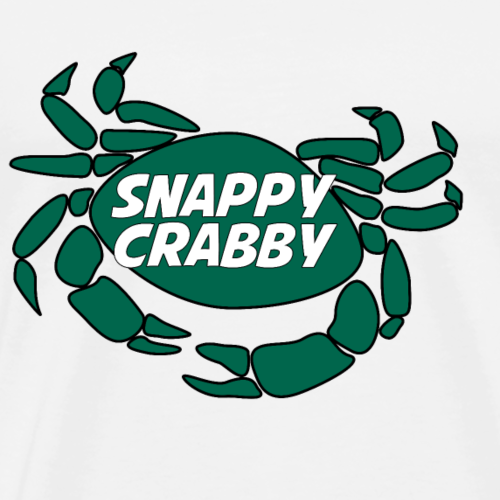 Snappy Crabby - Green - Men's Premium T-Shirt