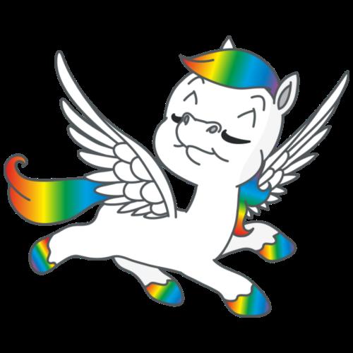 Regenbogen Pegasus - Männer Premium T-Shirt