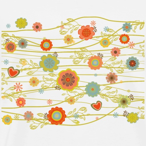Vintage floral Background - Männer Premium T-Shirt
