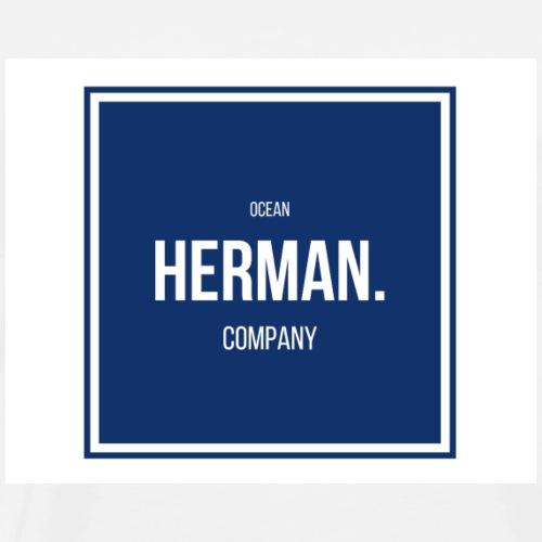 HERMAN DOUBLE BLUE - Camiseta premium hombre