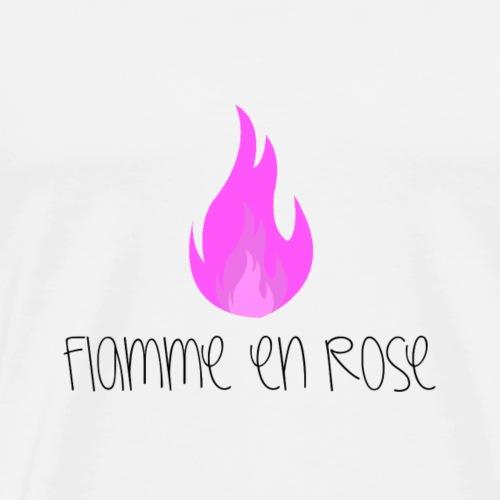 Flamme en rose - T-shirt Premium Homme