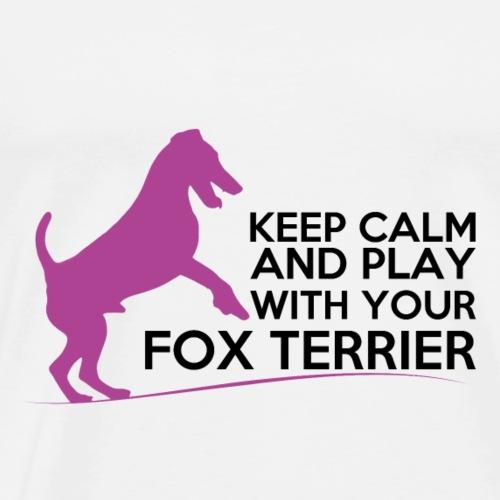 FOX KEEP CALM PINK - T-shirt Premium Homme