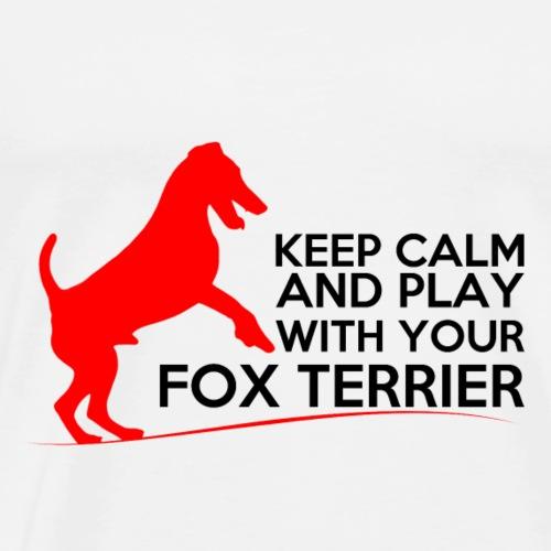 FOX KEEP CALM RED - T-shirt Premium Homme