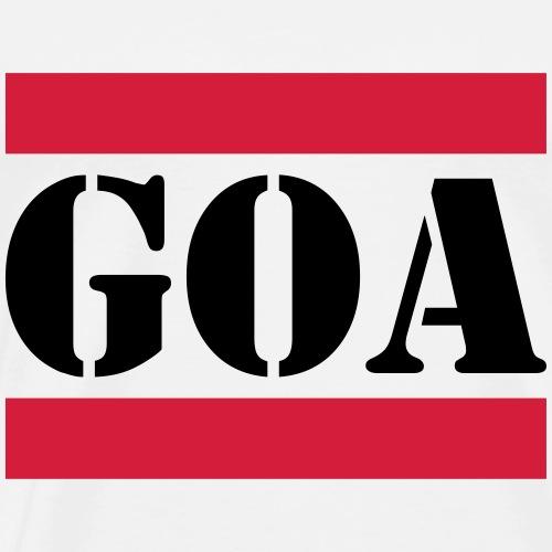 Goa mit roten Linien - Männer Premium T-Shirt