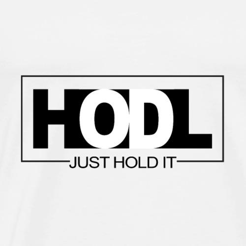 Bitcoin, HODL Logo - Männer Premium T-Shirt