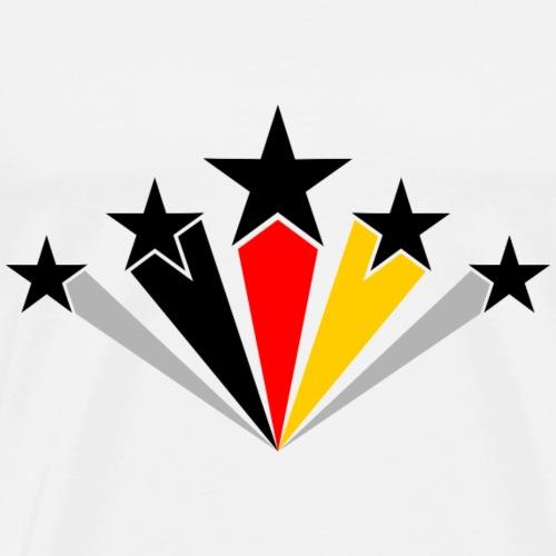 5ter Stern für Deutschland / WM-Shirt / Sterne - Männer Premium T-Shirt