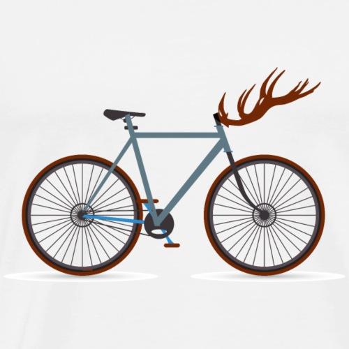 Hirschfahrrad für Fahrradfahrer - Männer Premium T-Shirt