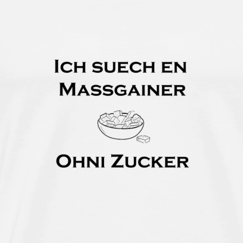 massgainer schwarz png - Männer Premium T-Shirt