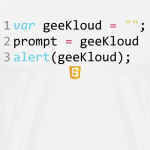 JavaScript-kod - GeeKloud - Premium-T-shirt herr