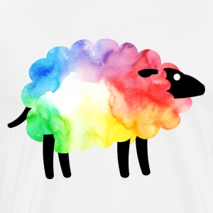 Rainbow Sheep - Premium T-skjorte for menn