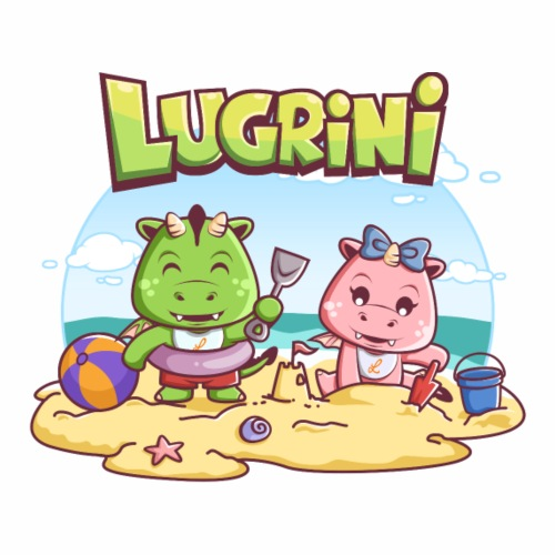 Lugrini und Lugrina am Strand - Männer Premium T-Shirt