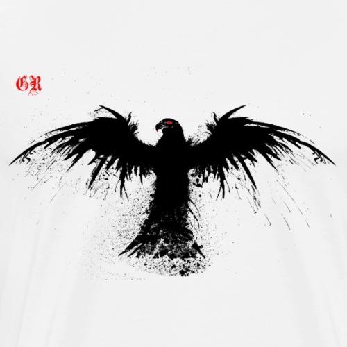 Rabe 4 K transparent - Männer Premium T-Shirt