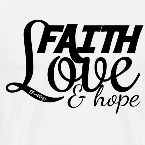 Faith Love & Hope - Black - Men's Premium T-Shirt