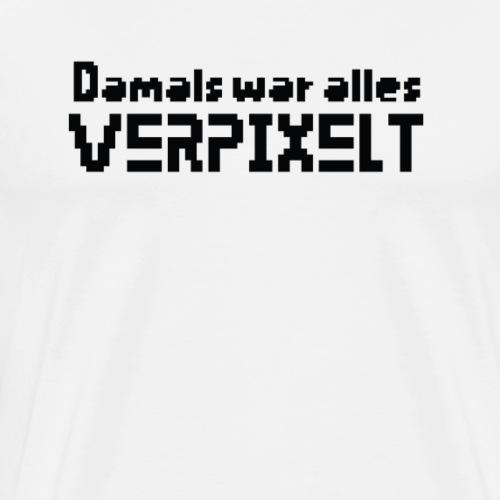 Pixel Oldschool Retro - Männer Premium T-Shirt